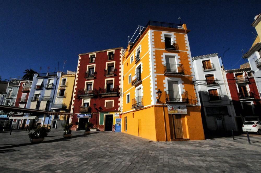 Villajoyosa - kolorowe domy
