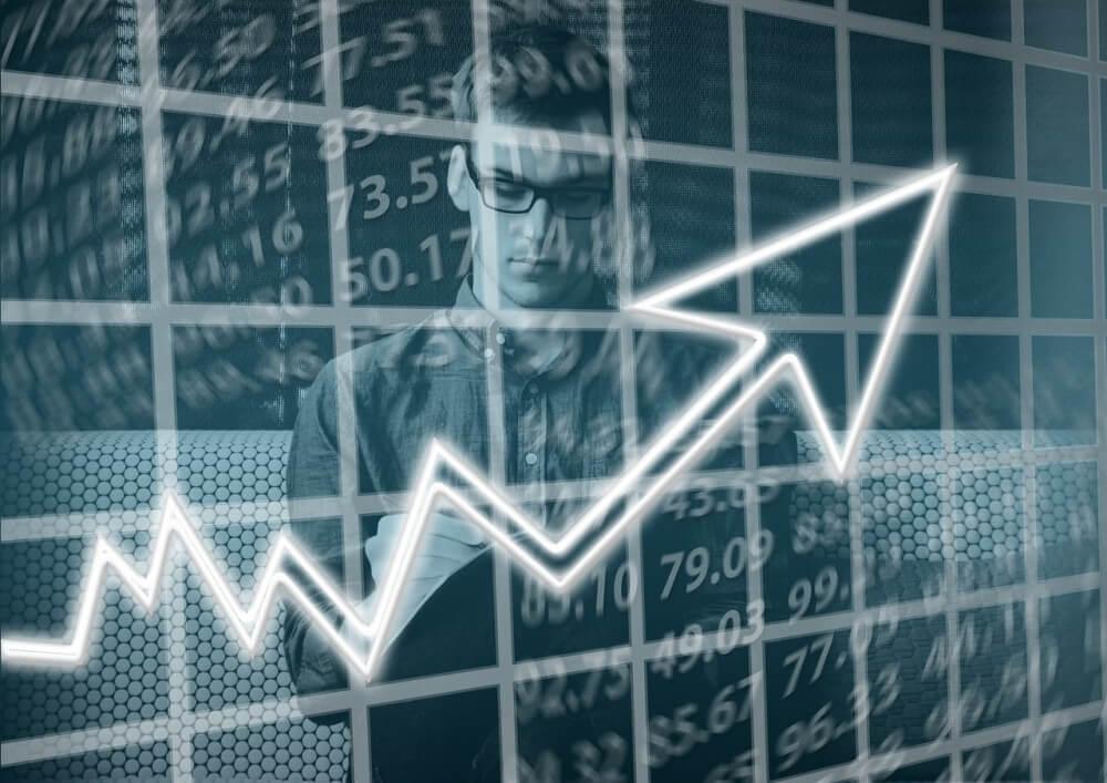 wykres prezentujący wzrosty na rynkach nieruchomości